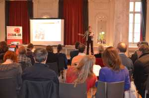 Veerle presenting our 2013 plans