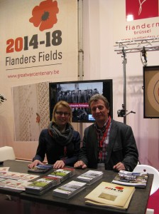 Aurelia and Erik at our booth