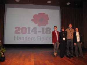 After the final speech: Geri, Liliane, Nicholas and me on stage