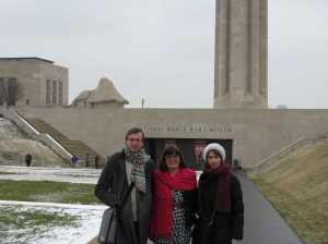 Ben, Liliane and Geri, our NYC gang, in front of the museum