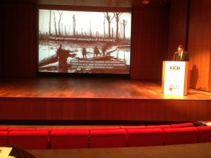 Koen Verlaeckt addresses the conference