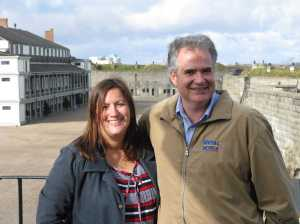 Christine and Doug at the Halifax citadel