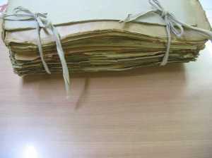 A huge folder, assembling echoes of distant lives